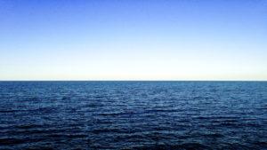 O horizonte no oceano