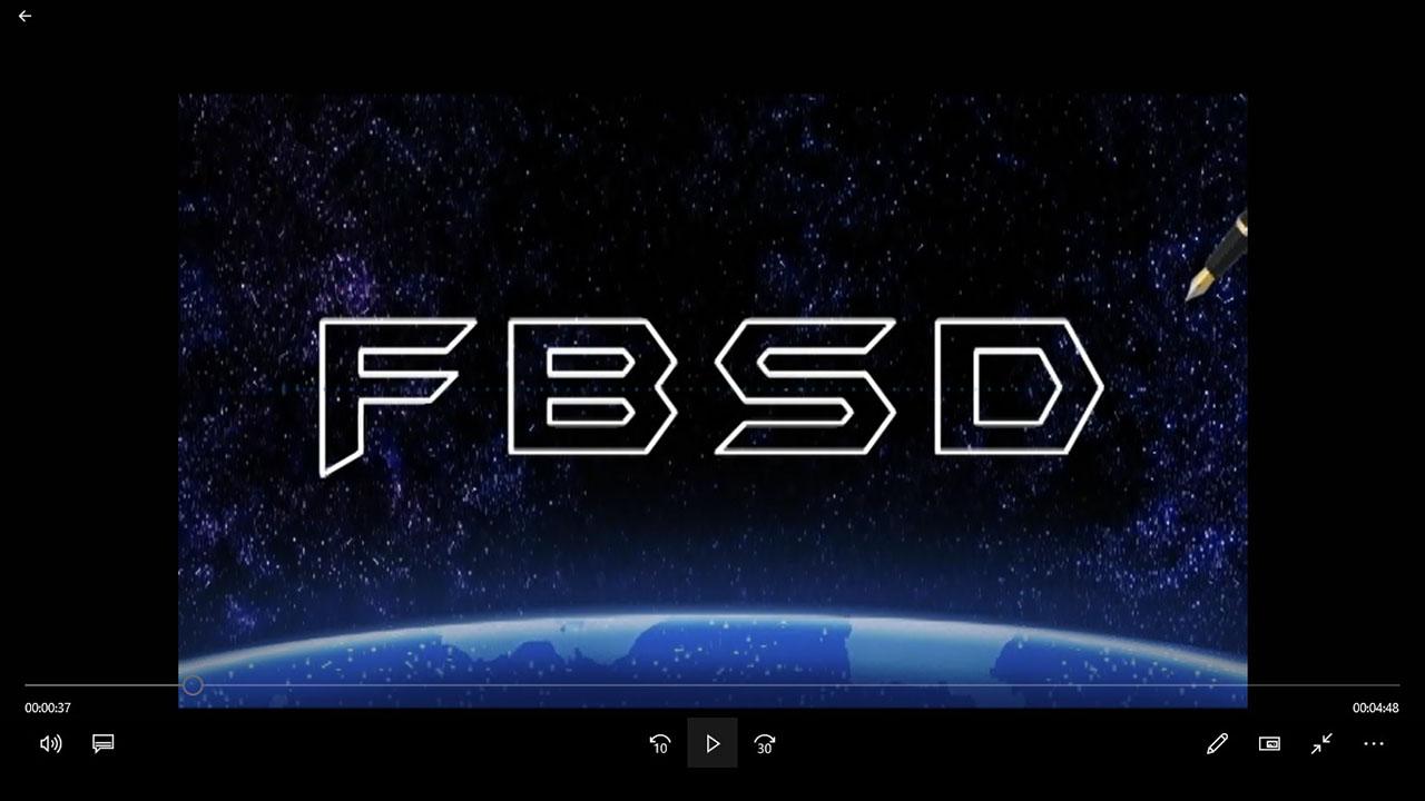 Logo de vinheta do studio FBSD
